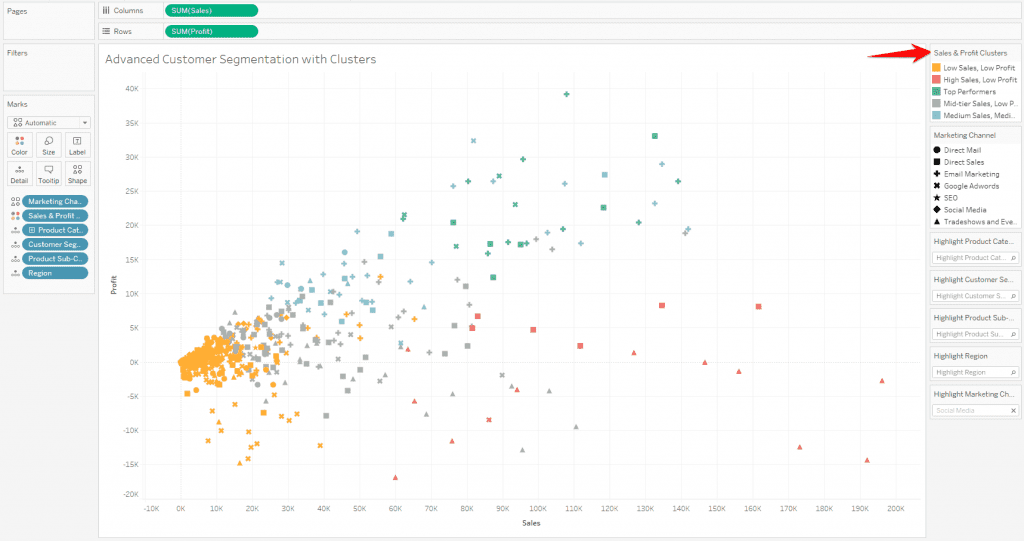 How to Create Clusters in Tableau