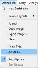 Tableau Action Filter