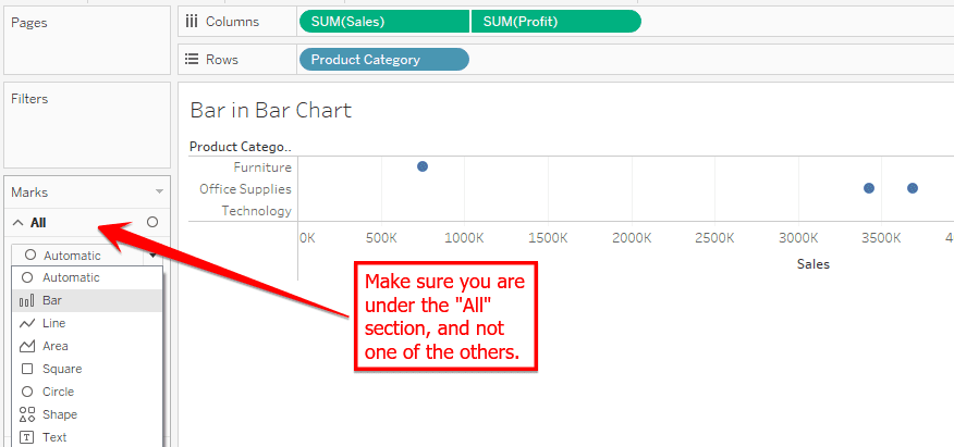 How to Make Bar in Bar in Tableau