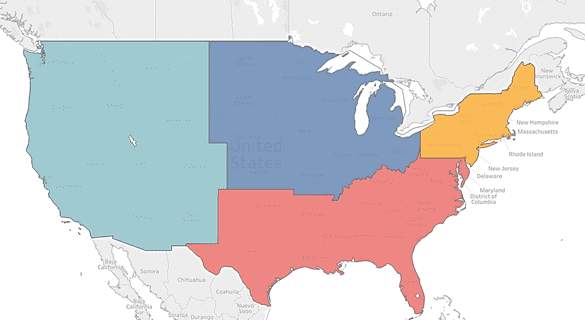 Tableau Dual Axis Filled Map